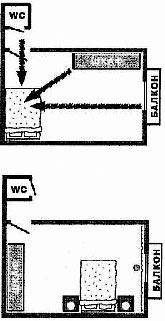 Часто квартиры спроектированы таким образом, что дверь спальни выходит не на что нибудь, а на туалет