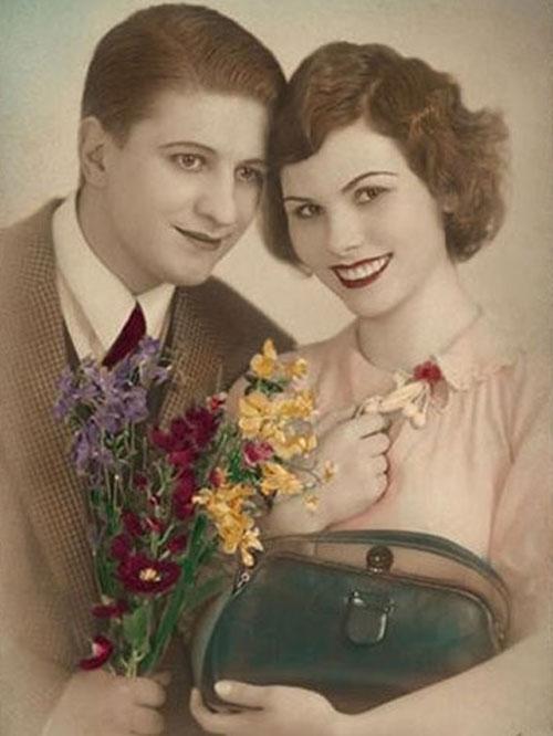 Старая фотография красивой пары