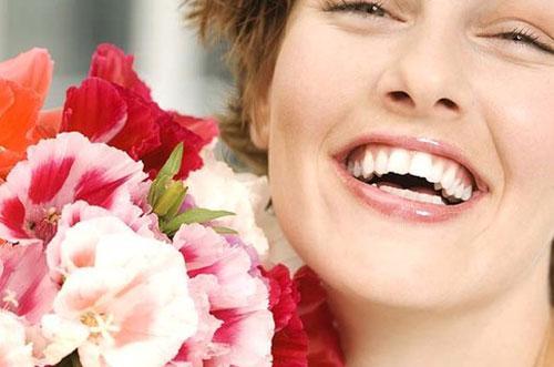 Красивый букет и великолепная улыбка...