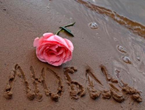 Роза на песке и признание...
