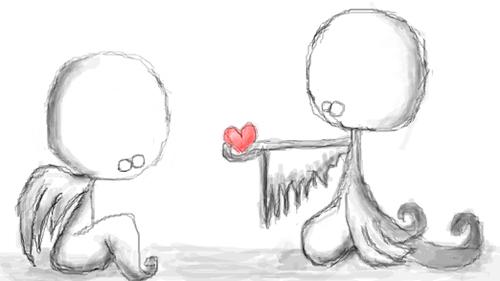 Любовь, сердечки, ангелочки...