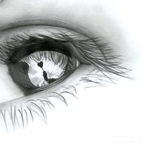 Любовь в отражении глаз
