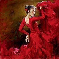 Стихи о испанской танцовщице