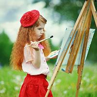 Стихи - маленький художник, маленькая художница