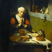 Тихо молилась уставшая мать