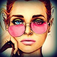 Розовые очки — стихи