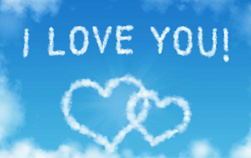 Я тебя люблю, написанное в небесах