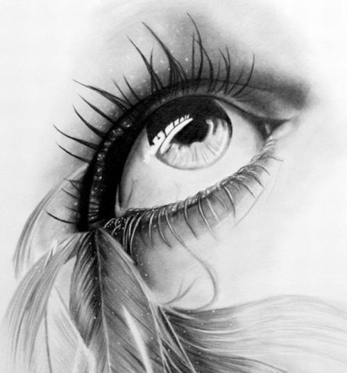 В мягких уголках глаз