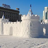 Стихи про снежную крепость, снежный бой, снежки