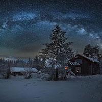 Если зимнее небо звездами горит