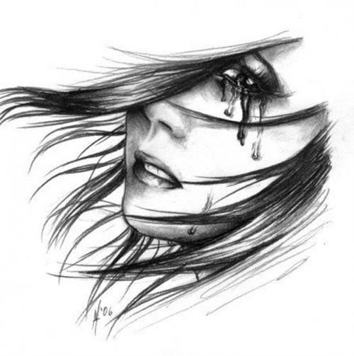 Ветер, слезы и тушь на лице