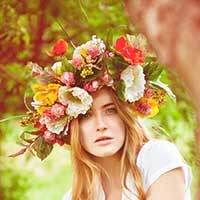 Стихи про венок из цветов