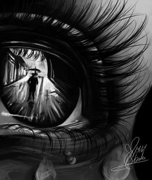 Одинокий дождь в уголках твоих глаз