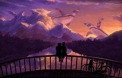 Странные видения влюбленных на мосту
