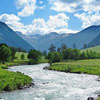 Стихи о речке Теберда