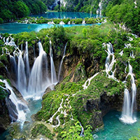 Стихи про водопады Плитвицких озер