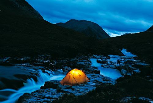 Палатка для влюбленных средь синих гор