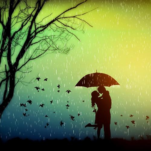 Осенне свидание под дождем