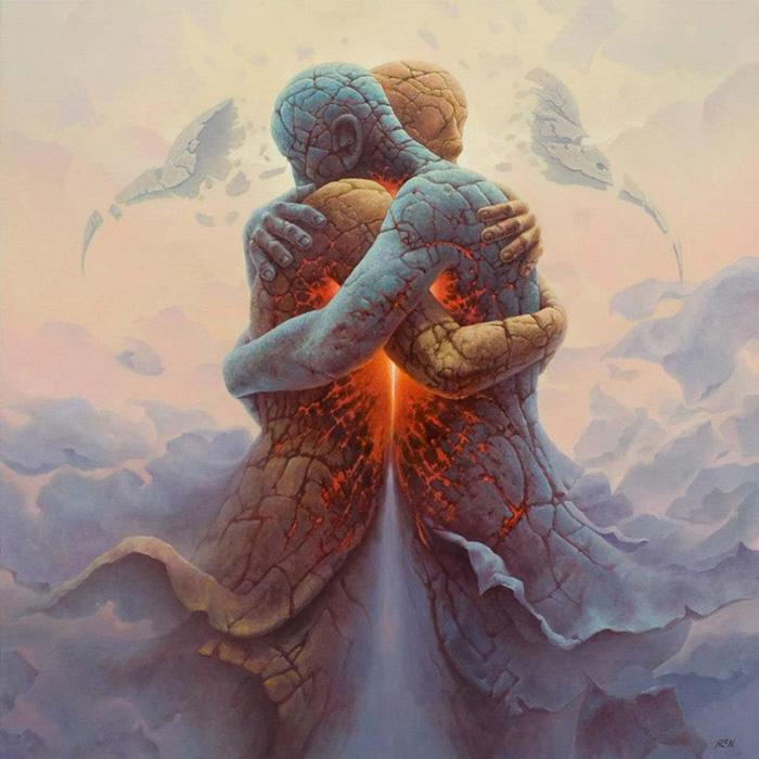 Огонь любви рождается в объятьях