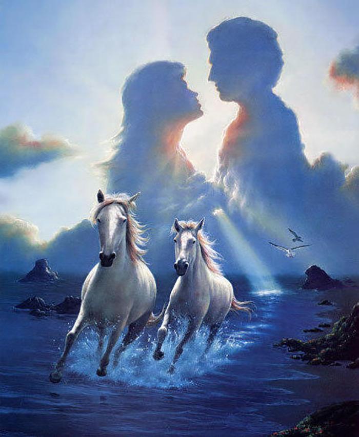 Наши мысли - белые лошади, несущиеся вместе в серебристых брызгах морской пены...