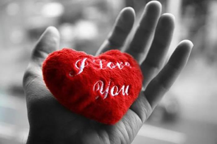 Пушистое любящее сердце...