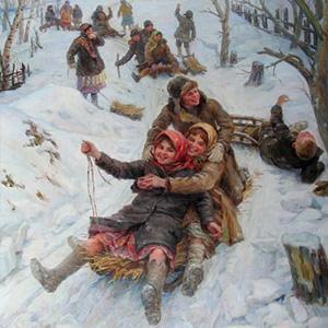 В зимние сумерки нянины сказки - Николай Некрасов