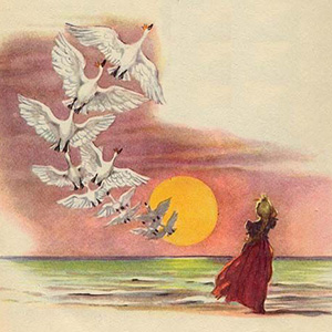 "Загадки о сказке ""Дикие лебеди"""