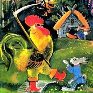 "Загадки о сказке ""Лиса, Заяц и Петух"" (Ледяная избушка)"