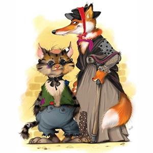 Загадки о лисе Алисе и коте Базилио