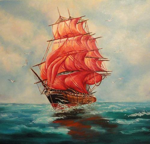 Алые паруса - картина