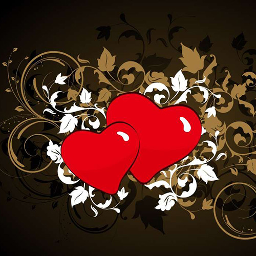 Два симпатичных сердца