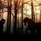 Сказочное свидание в предрассветном лесу