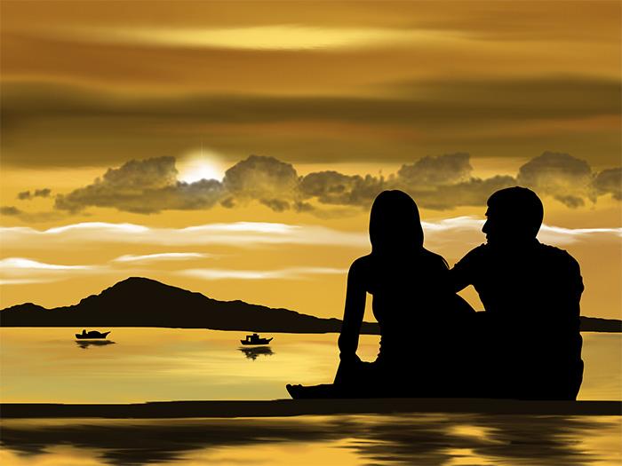 Золотой закат для двоих
