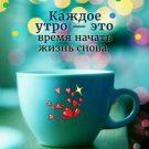 Каждое утро - это время начинать жизнь снова