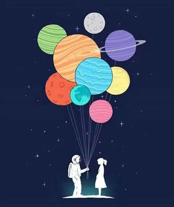 Я подарю тебе планеты и звезды... Ты моя галактика
