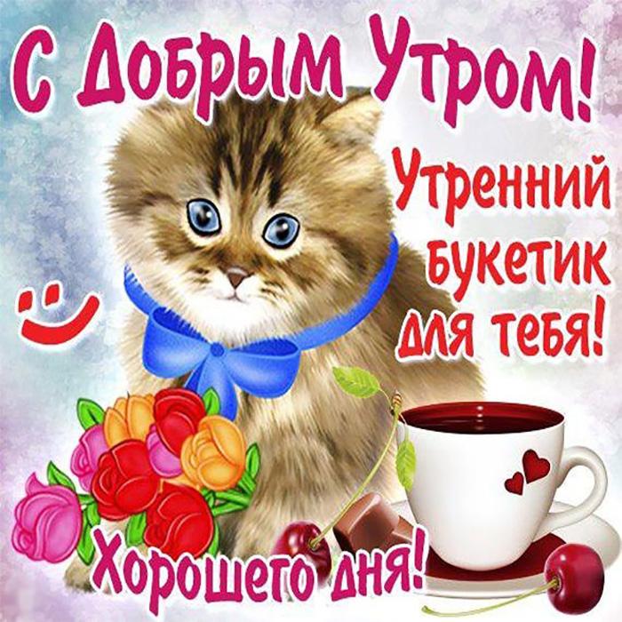 С добрым утром! Утренний букетик для тебя! Хорошего дня!