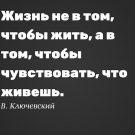 Жизнь не в том, чтобы жить