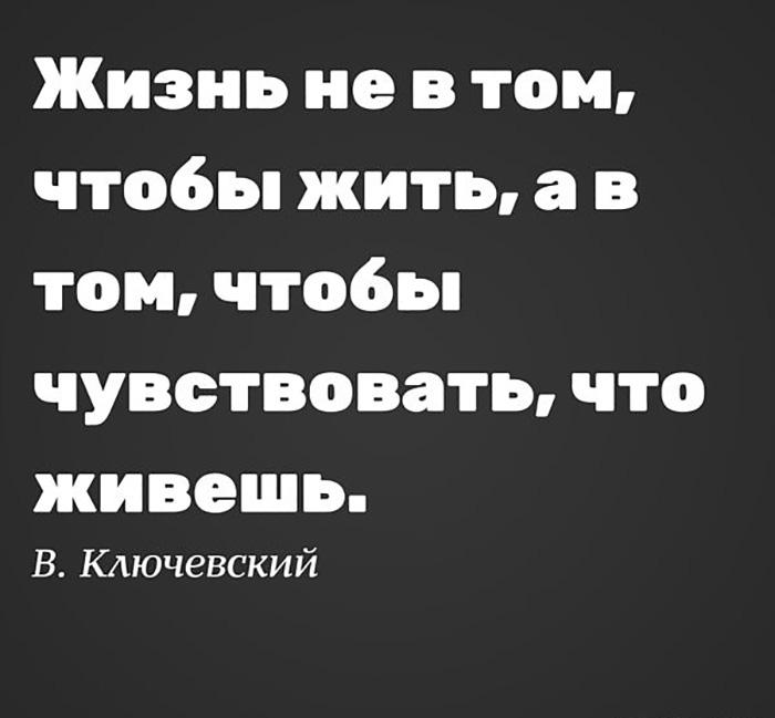 Жизнь не в том, чтобы жить, а в том,.. Василий Ключевский