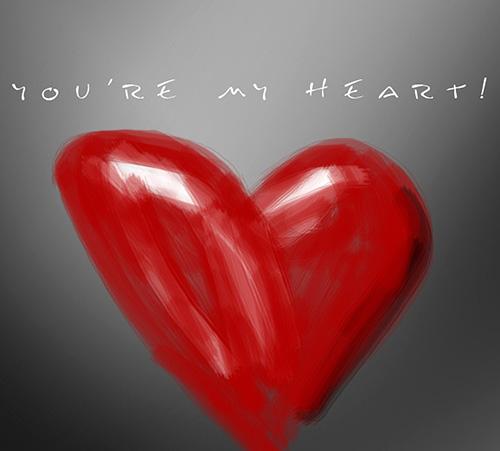Ты мое сердце - картинка