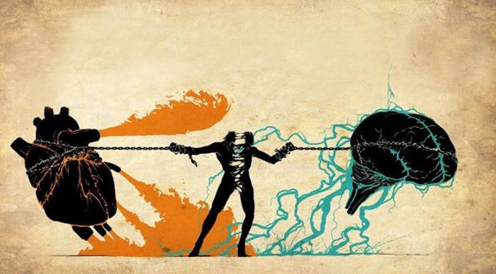 Борьба мозга и сердца разрывает
