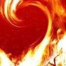 Пламенная любовь - огненное сердечко