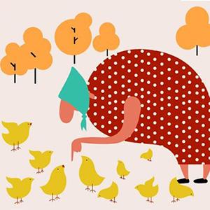 Цыплят по осени считают - стихи