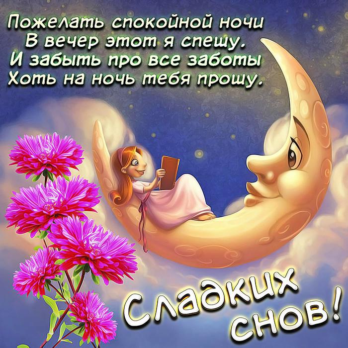 Пожелать спокойной ночи В вечер этот я спешу... Сладких снов!