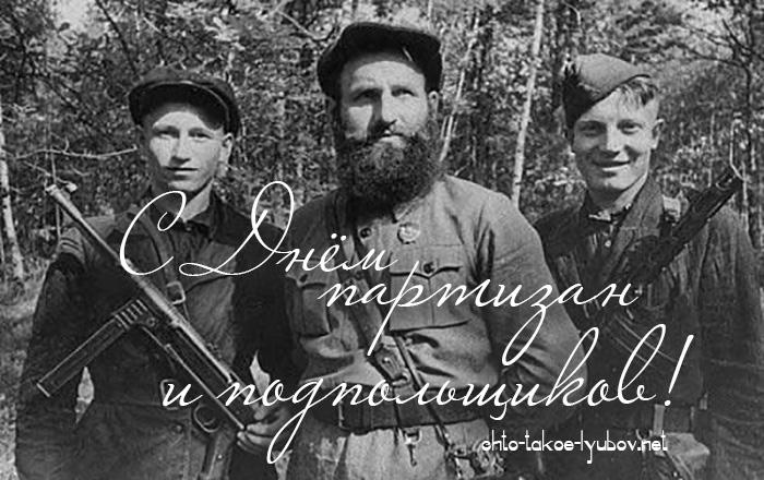 С Днём партизан и подпольщиков